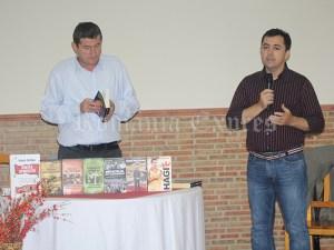 Grigore Cărtianu şi Laurenţiu Ciocăzanu la conferinţa de la Arganda del Rey