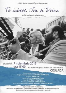 """Documentarul """"Te iubesc, Ion şi Doina"""" va fi prezentat în oraşul madrilen Coslada"""