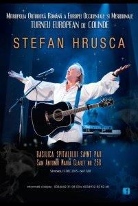 Afiş concert Ştefan Hruşcă Barcelona