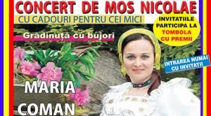 Madrid: Concert de Moş Nicolae în Arganda del Rey cu solista maramureşeană Maria Coman