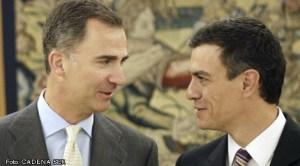 Regele Felipe şi Pedro Sanchez