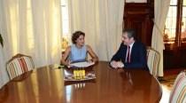 Primirea ambasadorului român, Ion Vîlcu, de către ministrul spaniol al agriculturii