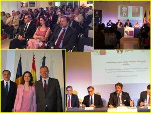 Secvenţe de la omagierea diplomaților Constantin Karadja și Jose de Rojas y Moreno în Madrid