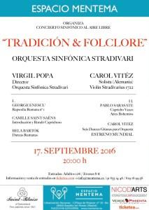 Afiş concert simfonic Tradiţie & Cultură