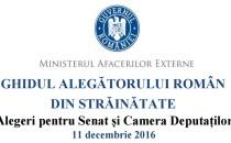 """Citeşte """"Ghidul alegătorului român din străinătate"""" pentru alegerea Senatului şi a Camerei Deputaţilor în anul 2016"""