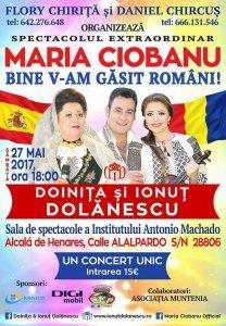 Afis concert Maria Ciobanu şi Doina şi Ionuţ Dolănescu