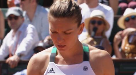 Simona Halep în finala de la Roland Garros