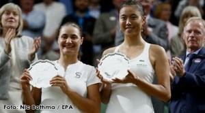 Monica Niculescu și Hao-Ching Chan la Wimbledon 2017