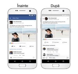 Diferenţe între varianta veche şi varianta nouă a aplicaţiei Facebook