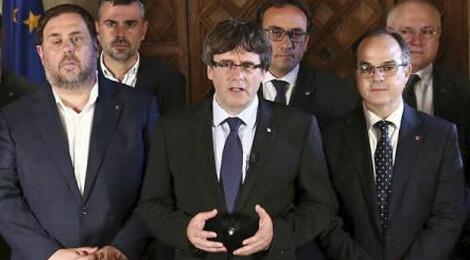 Carles Puigdemont y su gobierno