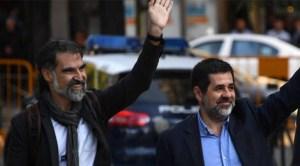 Jordi Cuixart şi Jordi Sánchez