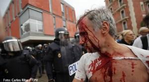Răniți în confruntările cu poliția spaniolă la referendumul din Catalonia
