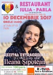 Afiş concert Ileana Şipoteanu în Parla