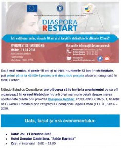Afiş Diaspora ReStart Madrid