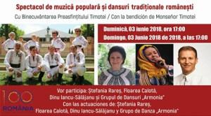 Spectacol de muzică populară și dansuri tradiționale românești în Salamanca, cu prilejul Centenarului Marii Uniri a României