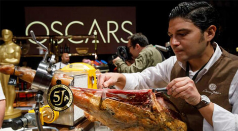 """""""Jamón ibérico"""", principala atracţie gastronomică la petrecerea de la Gala Premiilor Oscar"""