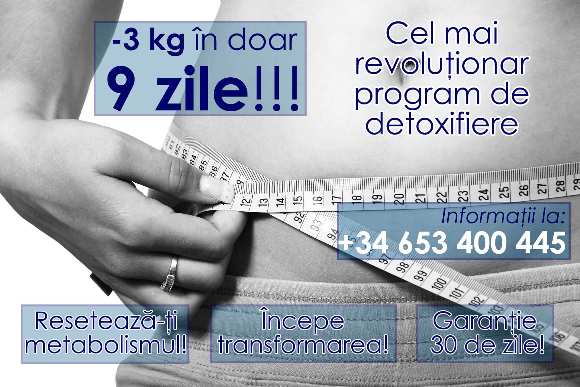 Slăbeşte 3 kg în doar 9 zile
