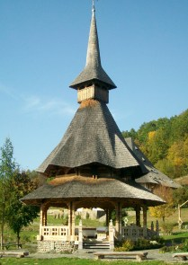 Typical Maramures Roof flowing like a 'Woman's Skirt""