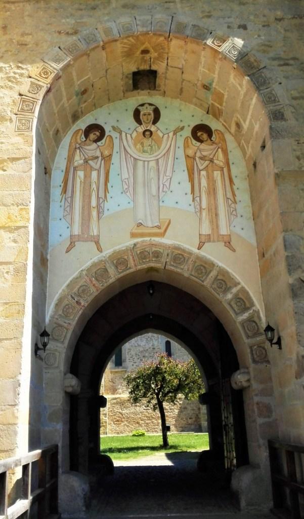 monastery dragomirna entrance