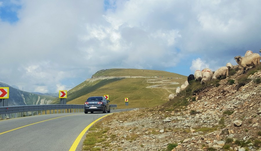 driving on transalpina romania