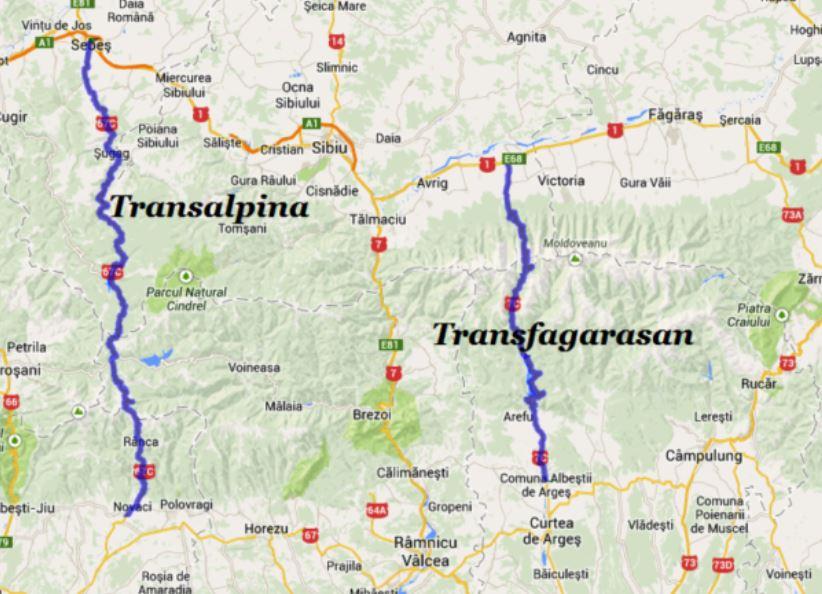 de unde incepe si unde se termina Transalpina