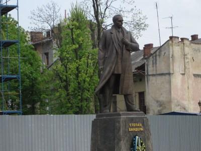 Bandera Statue Lviv