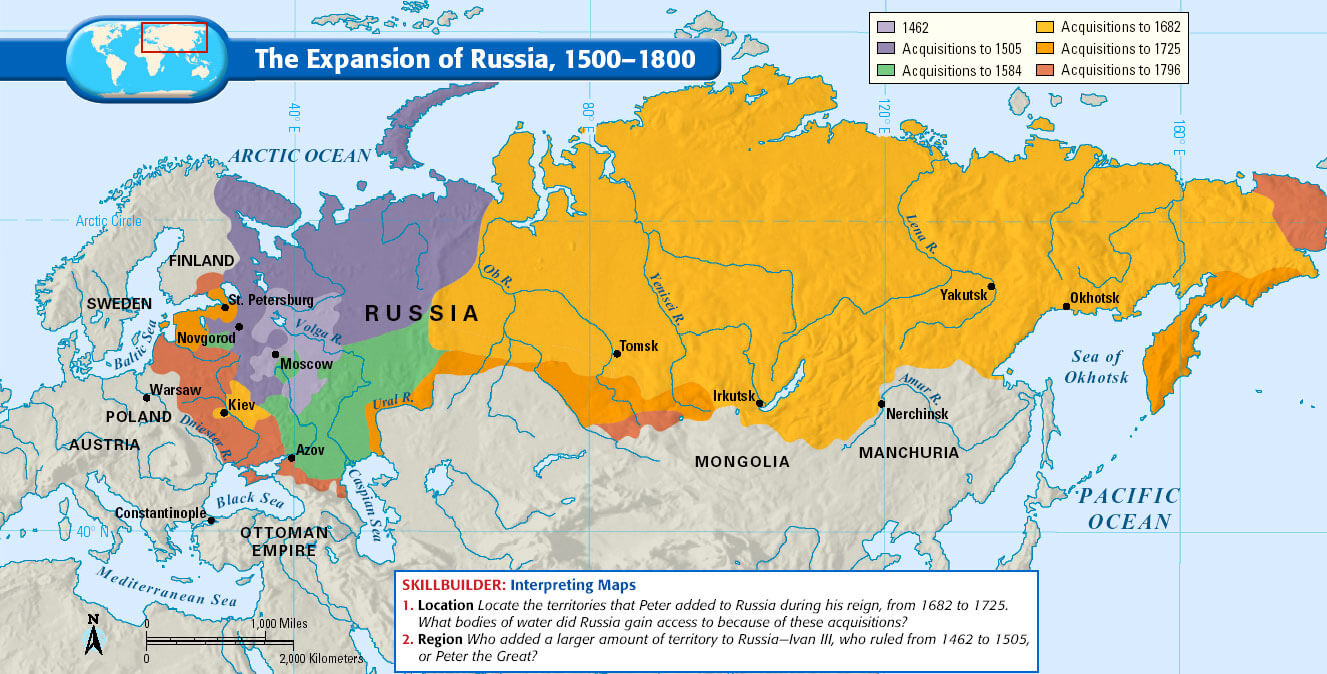Expansion of Russia. Map. | Roman in Ukraine