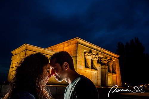 bodas originales en el templo de Debod