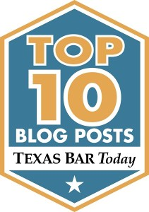 Texas BarToday Top Ten Badge