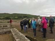 On a tour of Vindolanda (Photo: Joyce Compton)