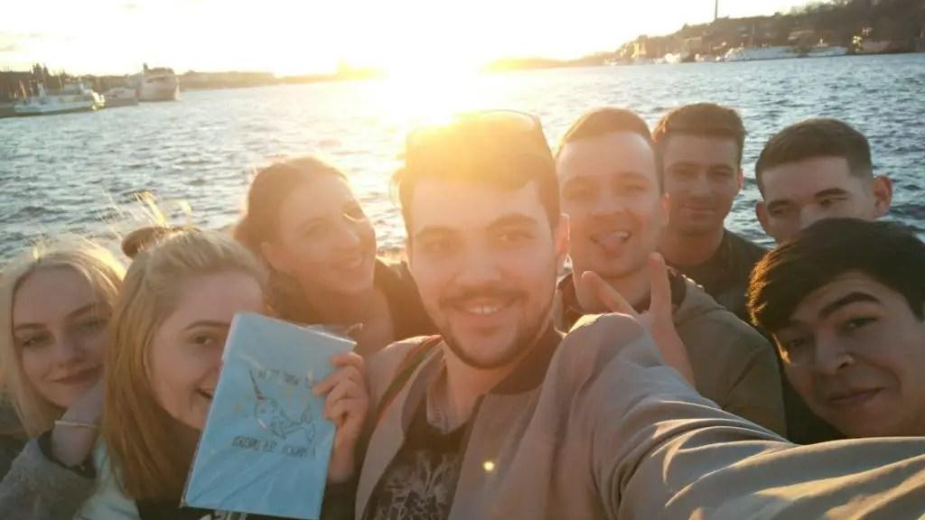 Закат в Стокгольме с новыми знакомыми