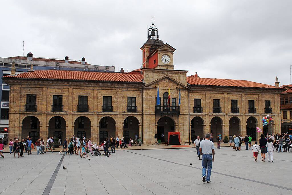 City hall of Aviles in Asturias