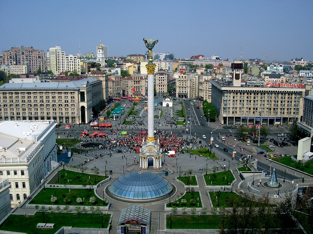 Maydan square in Kiev