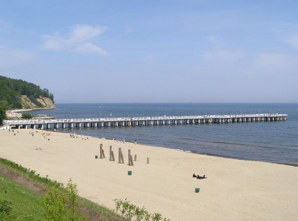 Beach of Gdynia on a sunny day