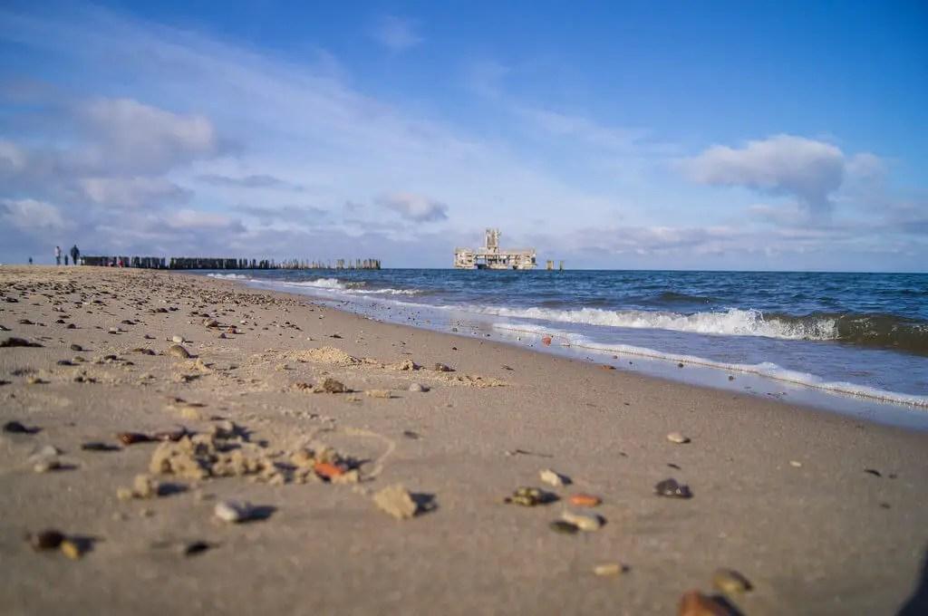 Beach and sea of Gdynia 2017
