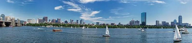 Панорама небоскребов Бостона