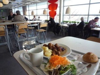IKEA meatballs cafe food in Stockholm itinerary