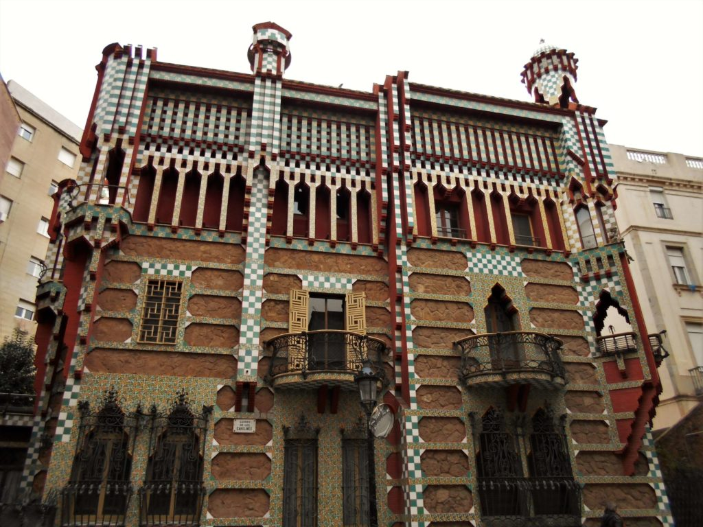Casa Vicens made by Gaudi, Gracia neighborhood, Barcelona