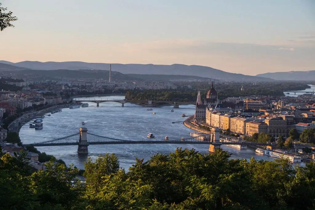 Панорама Будапешта, Вид с холма