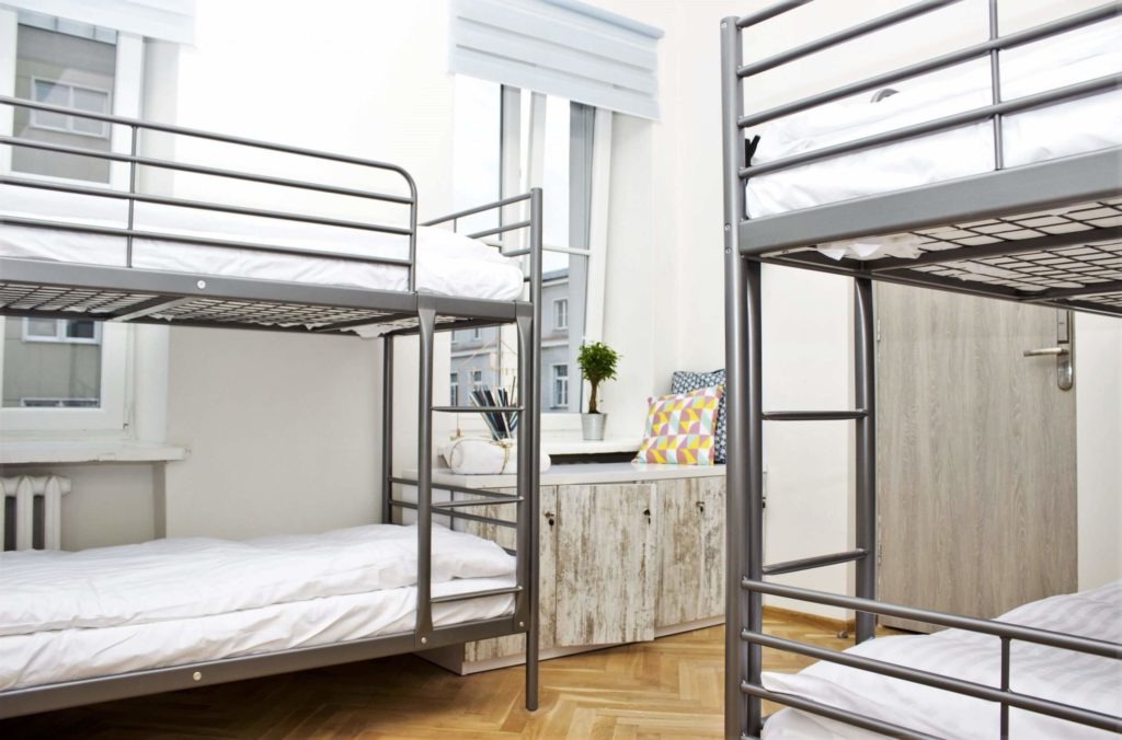 Chillout hostel bunks in Warsaw, travel guide