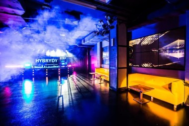 empty Hybrydy club in Warsaw
