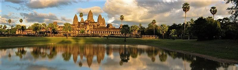 Evening view of Ankgor Wat in Thailand