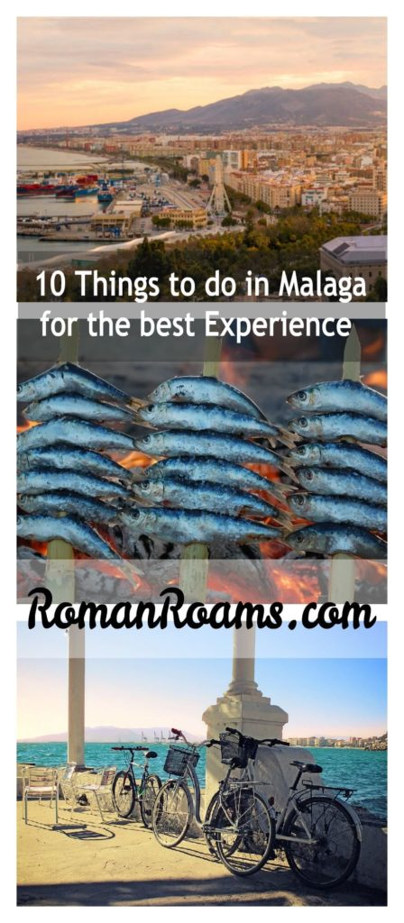 Top things to do in Malaga collage with three pictures