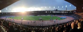 Футольный Стадион в Цюрихе во время матча