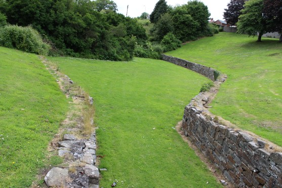 Carmarthen amphitheatre from the east