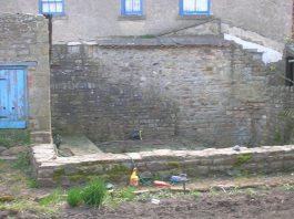 Piercebridge bathhouse wall