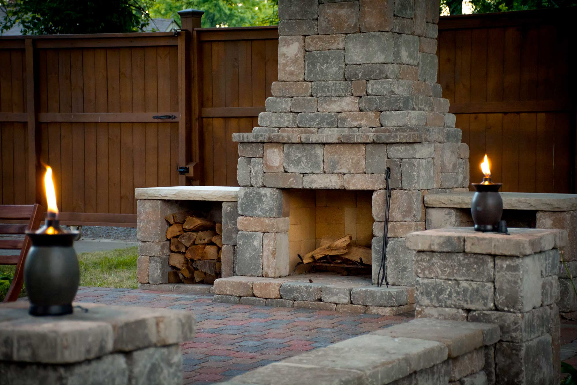 DIY outdoor Fremont fireplace kit makes hardscaping simple ... on Diy Outdoor Fire  id=58116