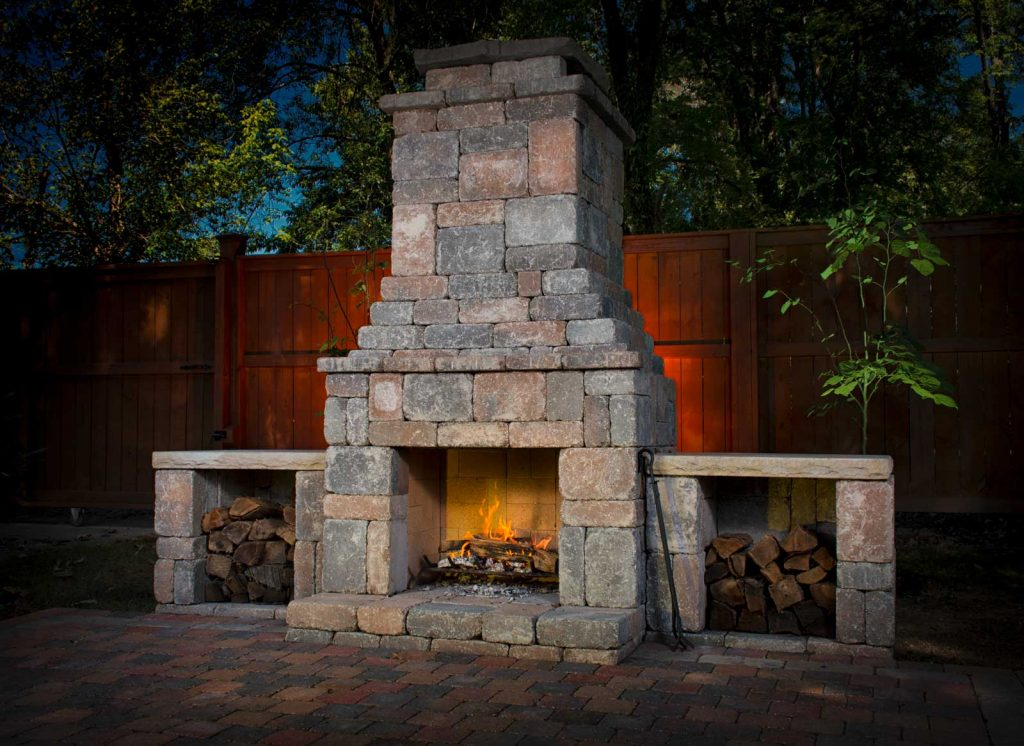 DIY outdoor Fremont fireplace kit makes hardscaping simple ... on Diy Outdoor Fire  id=29225