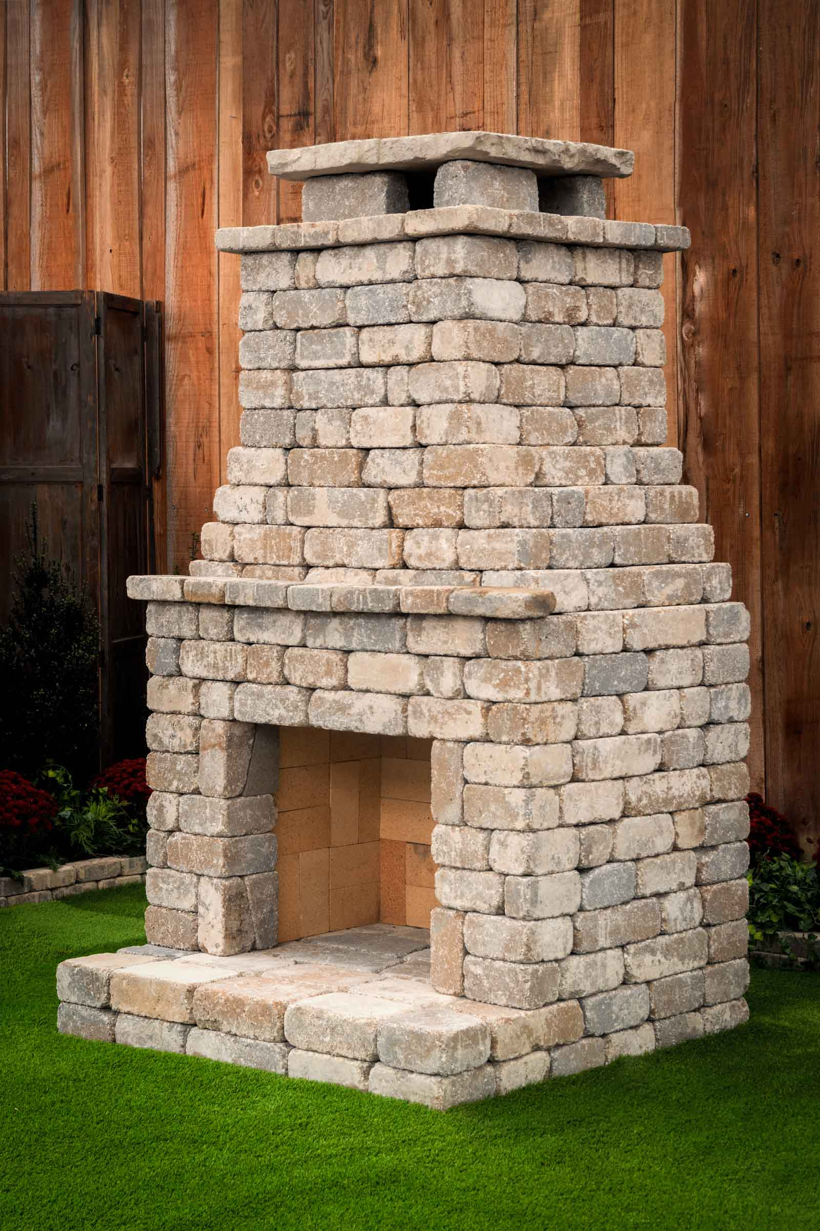 DIY outdoor Fremont fireplace kit makes hardscaping simple ... on Building Your Own Outdoor Fireplace id=66752