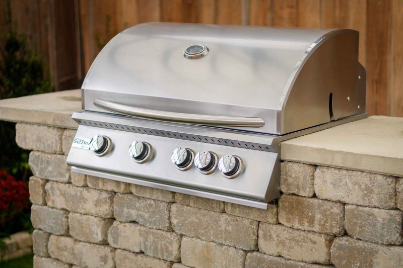 """Willard 32"""" stainless gas grill outdoor grilling station kit"""